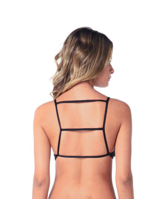 Cropped com bojo   Preto liso costas