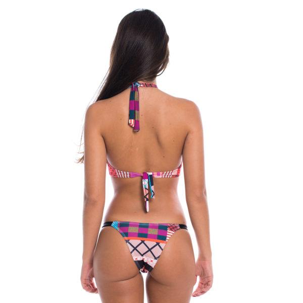 Conjunto Biquíni Cropped | Top Cruzado e Calcinha Esportiva Cool - costas