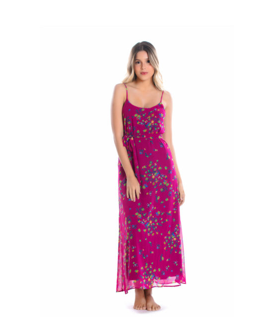 Vestido Crepe Rosa vestuario