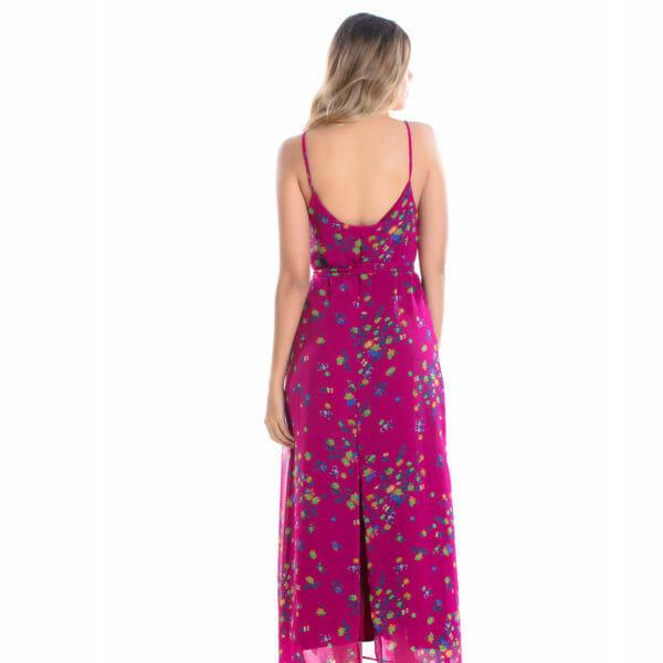 Vestido Crepe Rosa verso