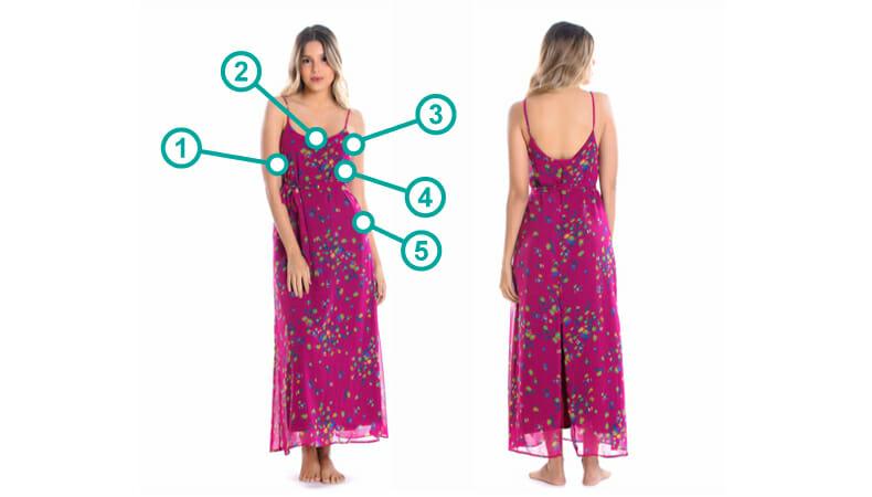 vestido-crepe-rosa Tabela de Tamanhos