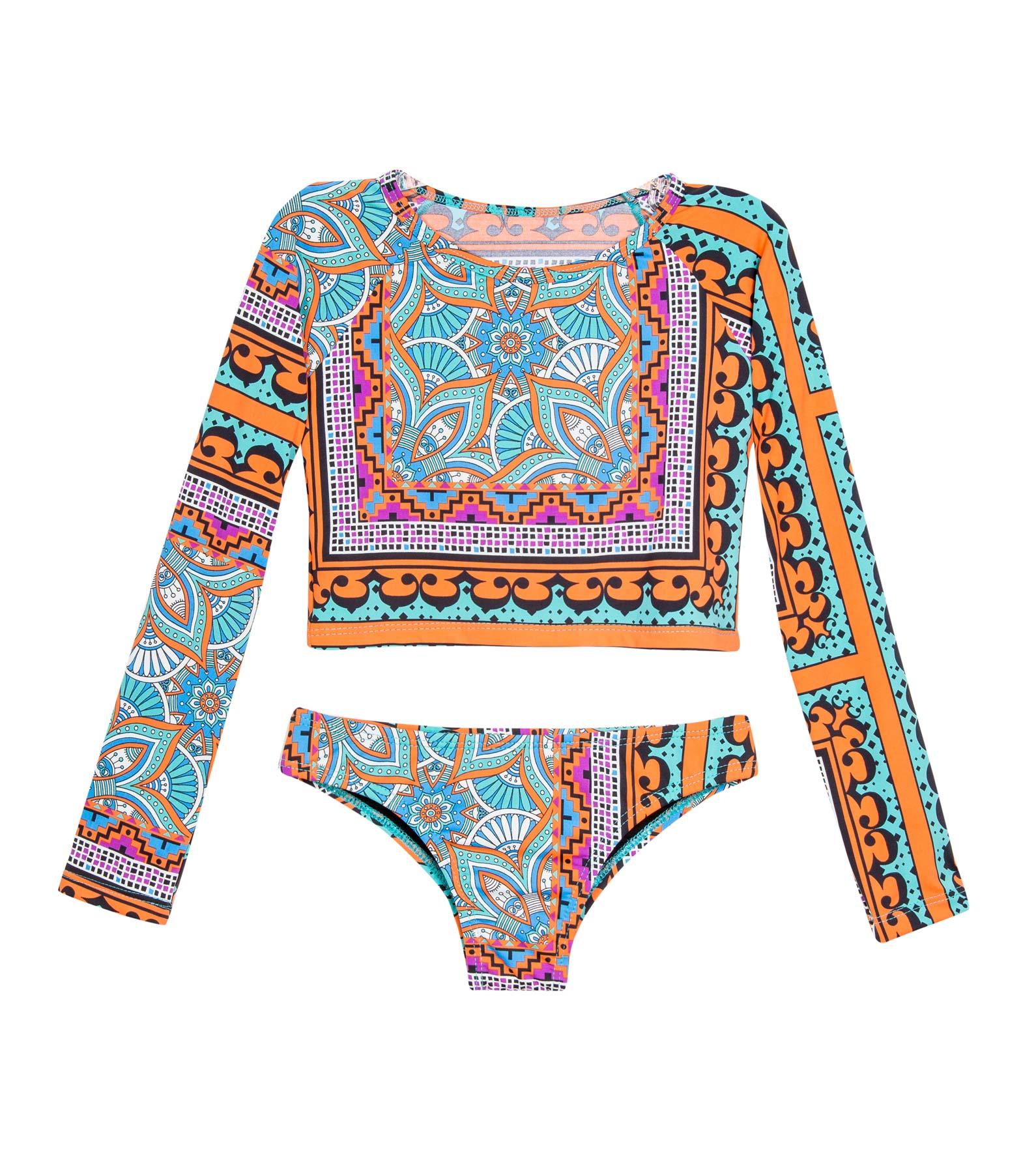 93221bace6 Conjunto Manga Longa Infantil Taj Mahal - Blih! Brazilian Bikini