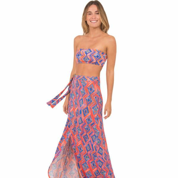 d6ffe4483 Encontre Conjunto cropped bordado com saia com | Multiplace